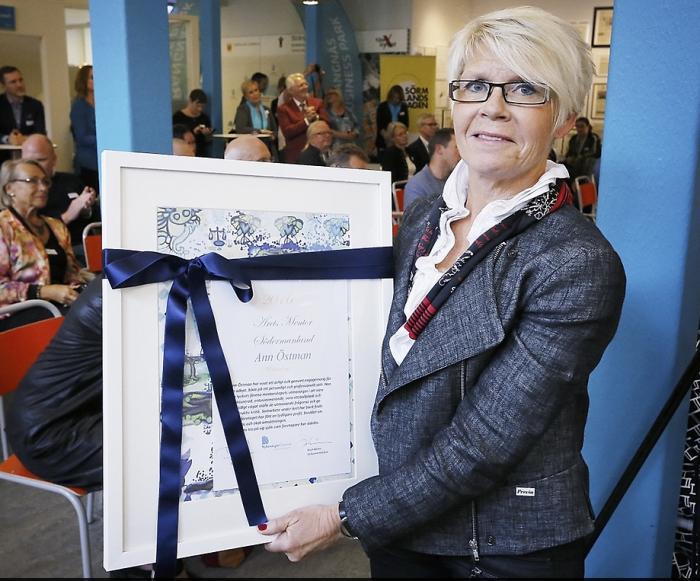 20160929 Ann Östman årets mentor 2016
