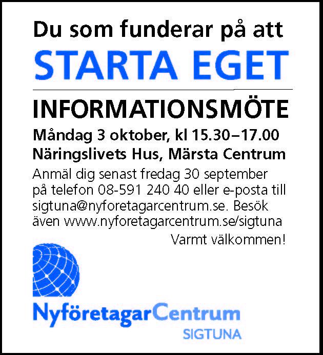 Info annons NyföretagarCentrum